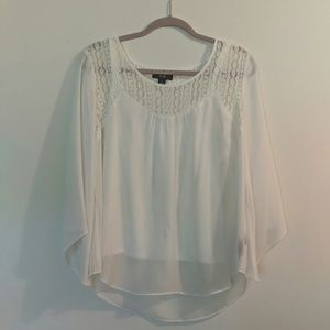 White top with attached cami